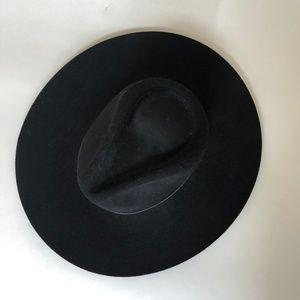 6389dc33915cc Janessa Leone Accessories - Janessa Leone Womens Peyton Fedora Hat Wool  Black